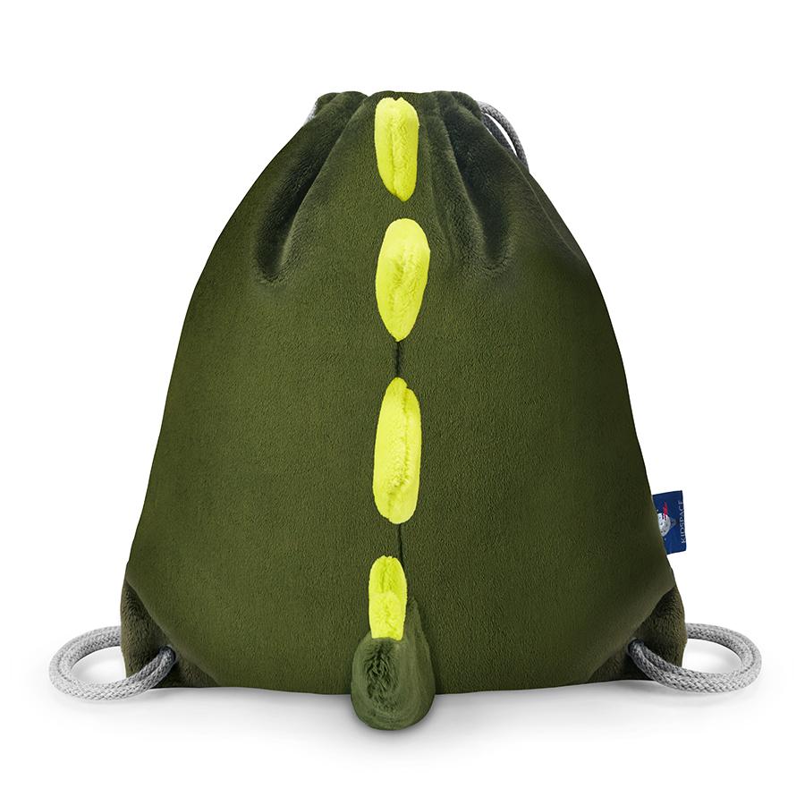 Worek plecak dla dzieci zielony – dinozaur
