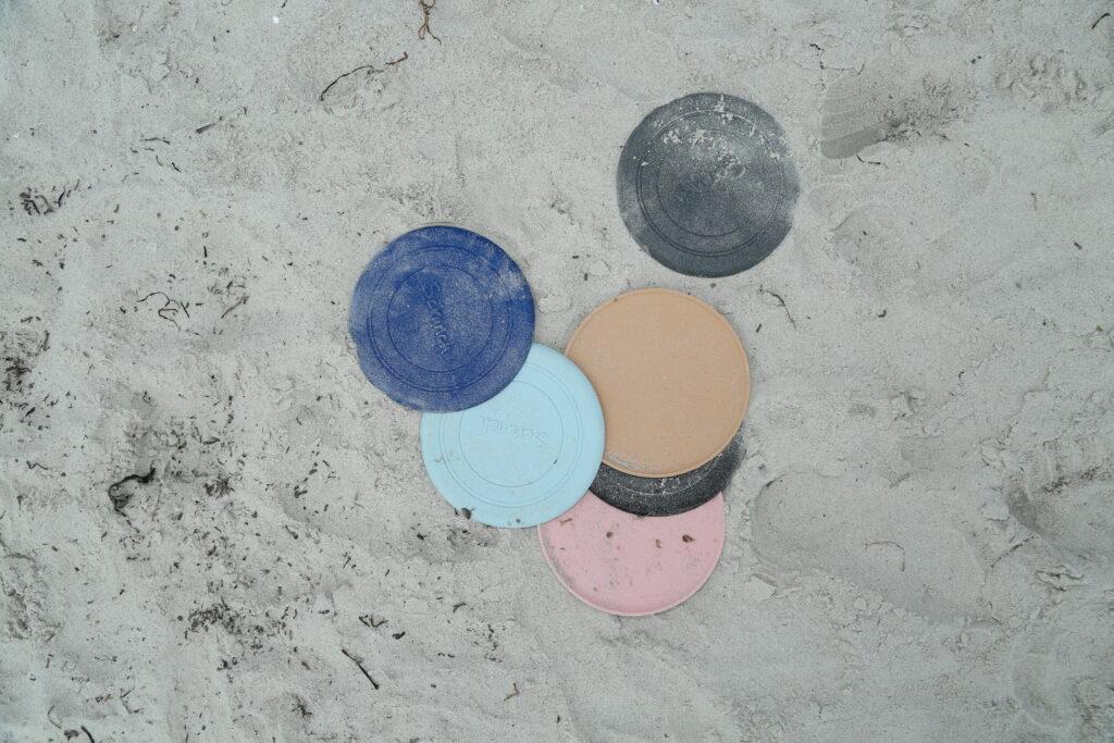 Silikonowy dysk typu frisbee Scrunch do rzucania – Granatowy