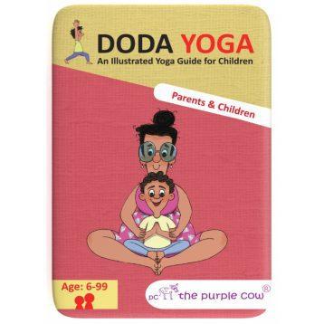 Joga dla dzieci KARTY Doda Yoga, Rodzice i Dzieci od The Purple Cow (po ang.)