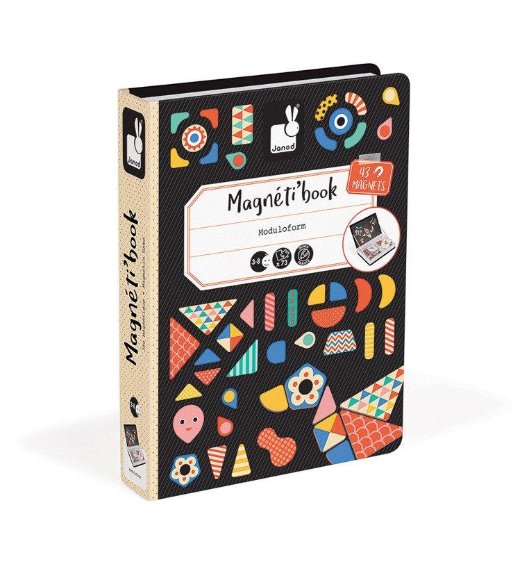 Układanka magnetyczna Magnetibook: Kształty od Janod