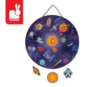 Układanka magnetyczna dla dzieci: Układ Słoneczny od Janod
