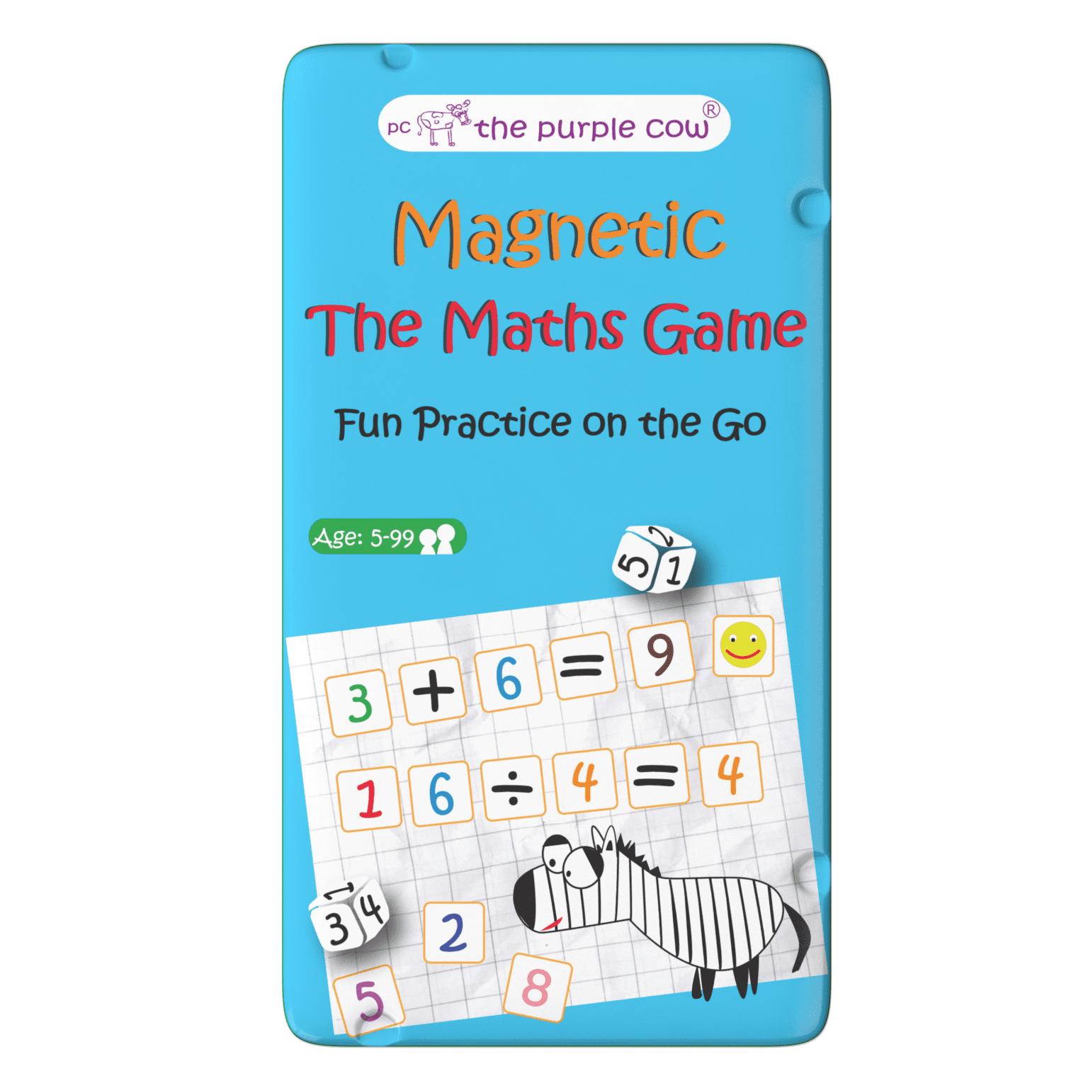 Magnetyczna gra matematyczna dla dzieci Zadania matematyczne - The Purple Cow