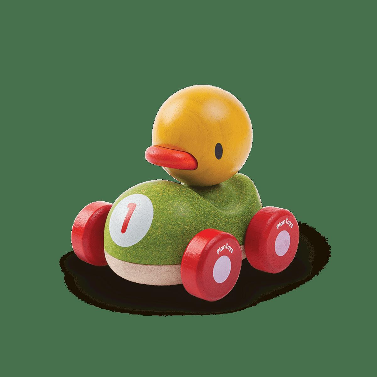 Wyścigówka w kształcie kaczki od Plan Toys