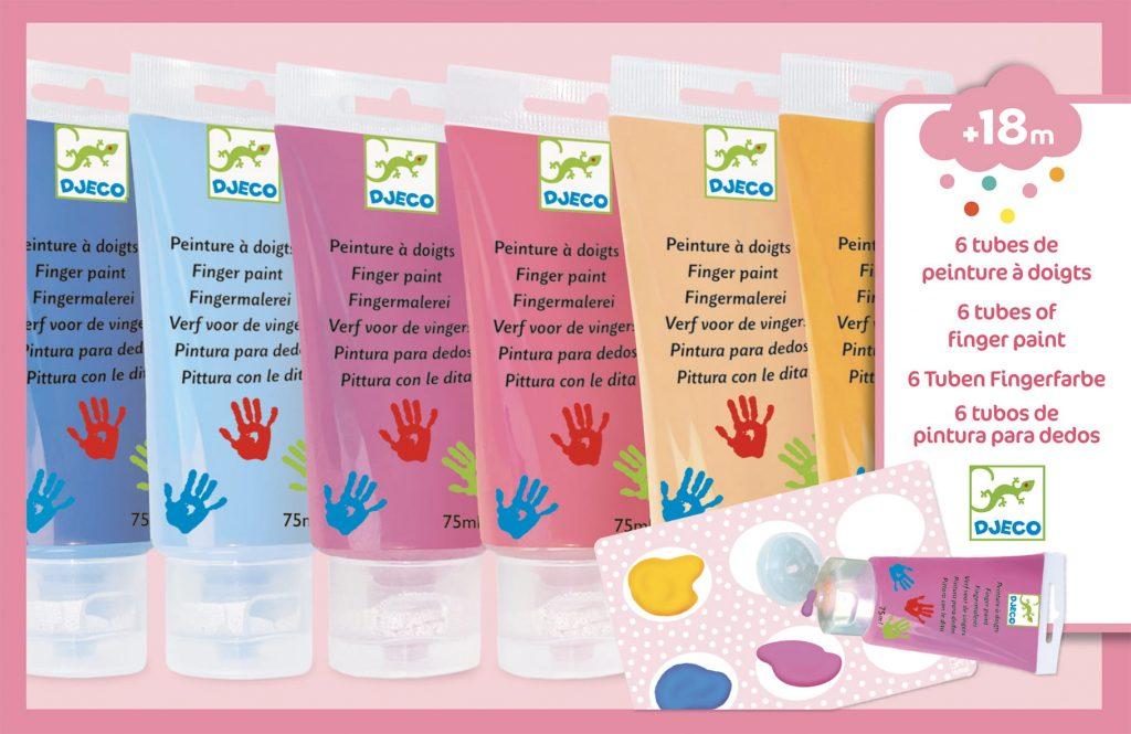 Farby do malowania palcami SWEET od DJECO