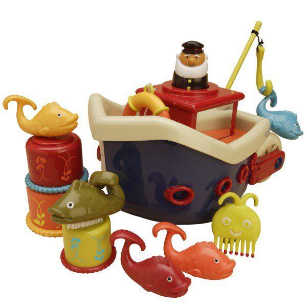Zestaw do kąpieli – STATEK z akcesoriami, B.Toys