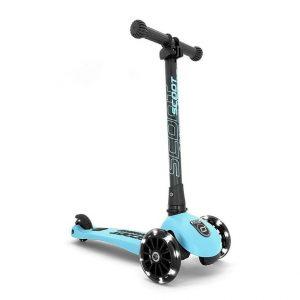 Hulajnoga składana Scoot And Ride Highwaykick 3 LED dla dzieci 3+ niebieski