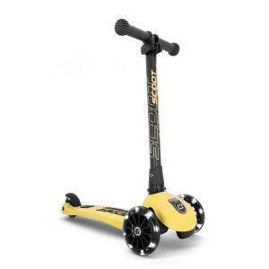 Hulajnoga składana Scoot And Ride Highwaykick 3 LED dla dzieci 3+ żółty