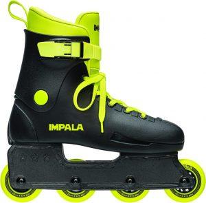 Rolki dla dzieci Impala Lightspeed Inline Skate czarno-fluorescencyjne
