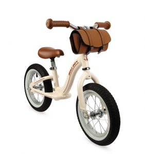 Metalowy rowerek biegowy Bikloon Vintage 3+ beżowy, Janod