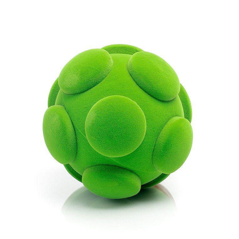 Sensoryczna piłka z delikatną fakturą, zielona od Rubbabu