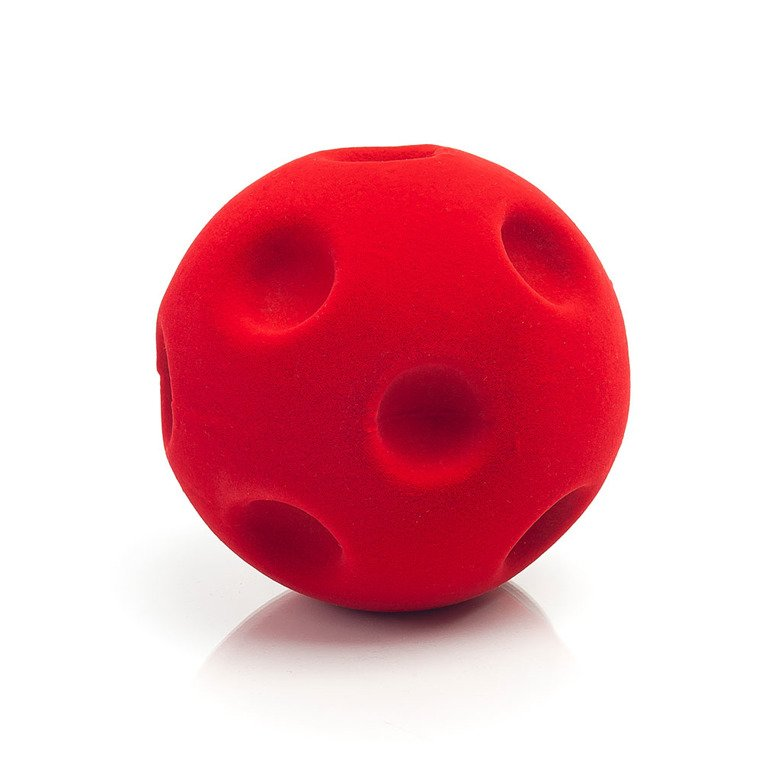 Piłka sensoryczna z mocną fakturą, czerwona golfowa od Rubbabu