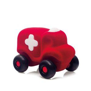 Pojazd sensorycznych dla dzieci, czerwona karetka od Rubbabu