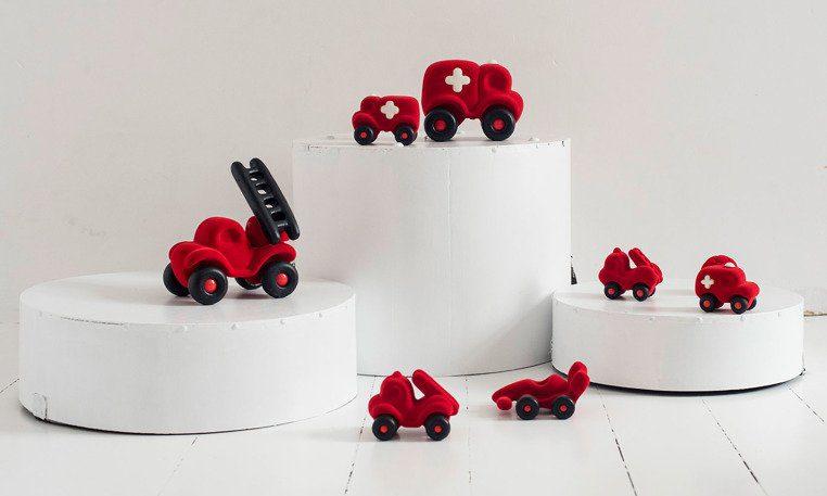 Pojazd sensorycznych dla dzieci, czerwony bolid od Rubbabu