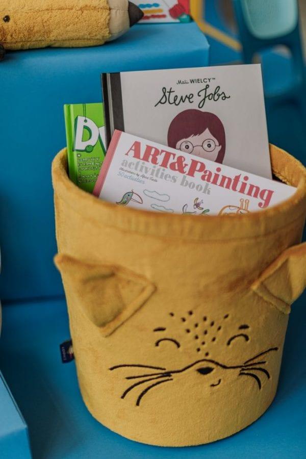 kosz na zabawki , książki , kolorowanka