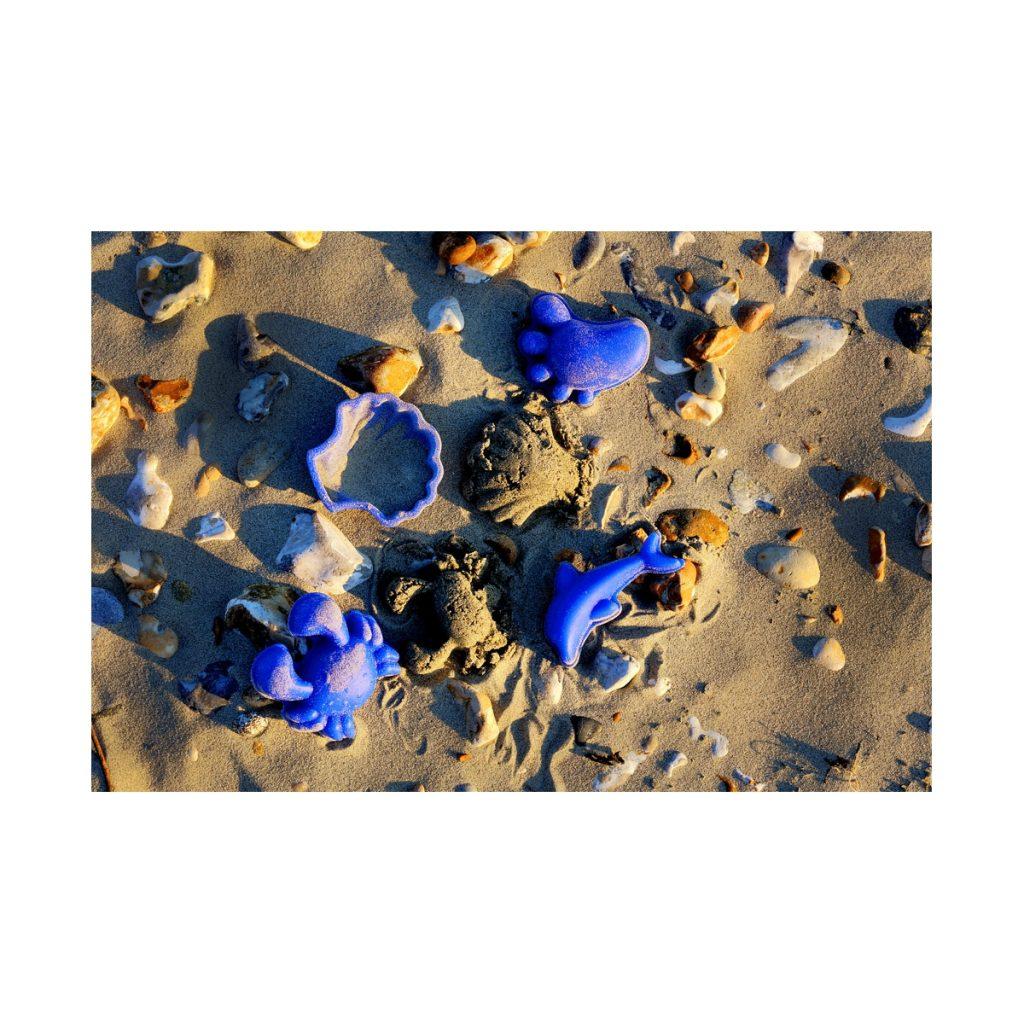 Zabawki do piasku - silikonowe foremki Scrunch - Musztardowe, 4 szt.
