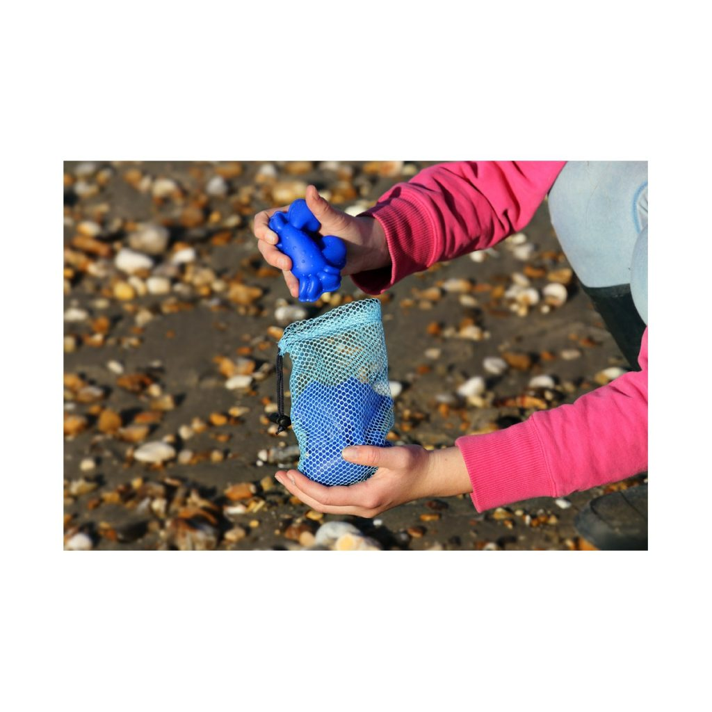 Zabawki do piasku - silikonowe foremki Scrunch - Petrol, 4 szt.