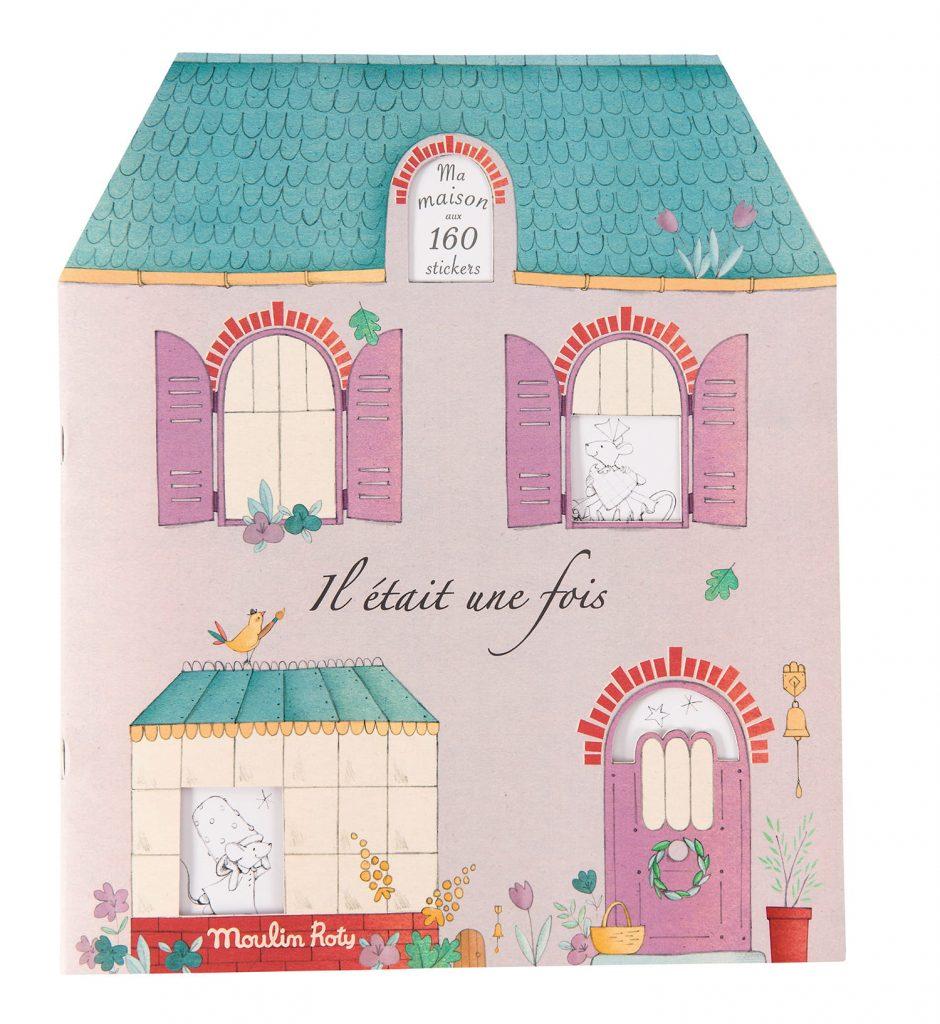 Kolorowanka z naklejkami Mój Dom od Moulin Roty