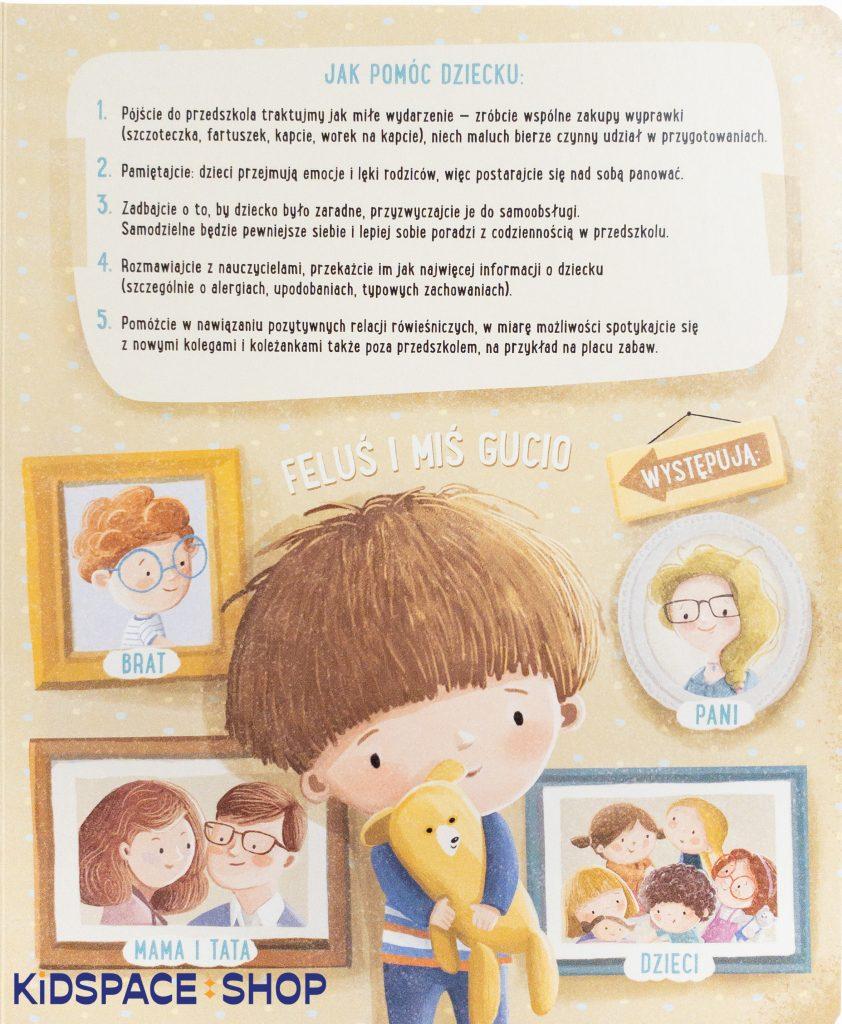 Feluś i Gucio idą do przedszkola - wydawnictwo Nasza Księgarnia