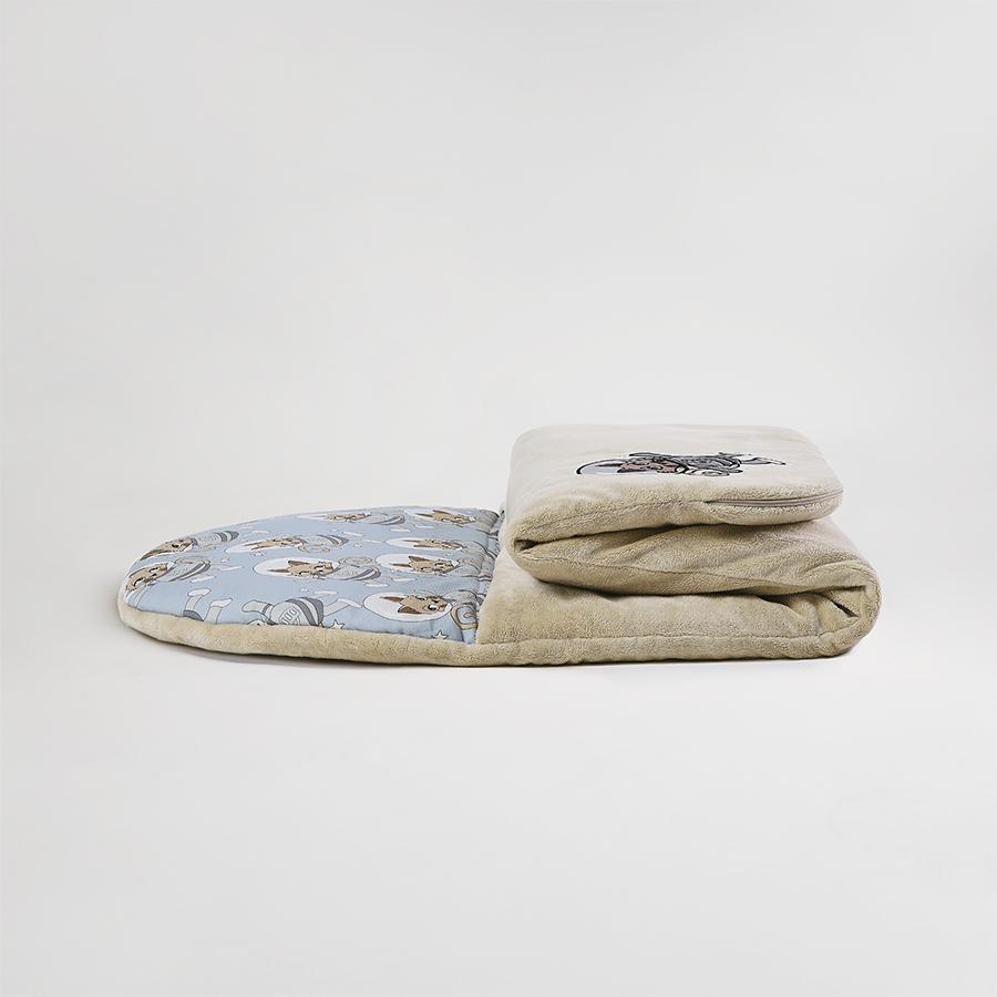 Śpiworek - SLEEPOVER 190×80 - Astrokot beżowy